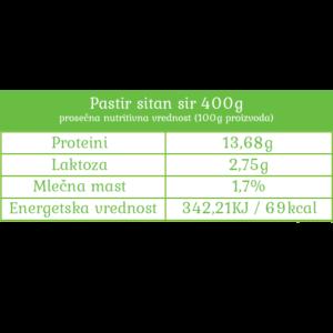Nutritivne vrednosti Pastir sitan sir